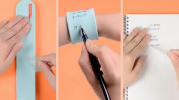 滿足筆記控,隨手記在手腕寫完土炮傳送