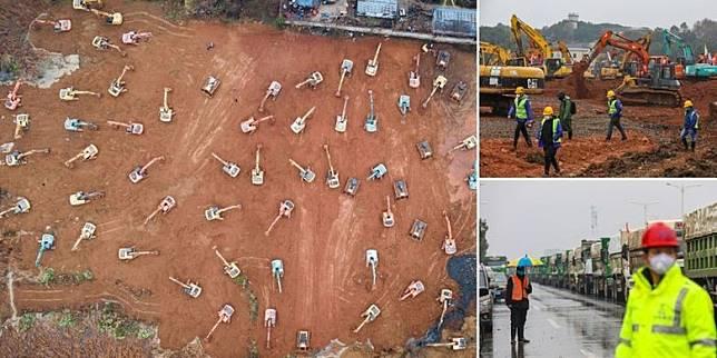 China membangun RS khusus Corona, Xinhua News Agency