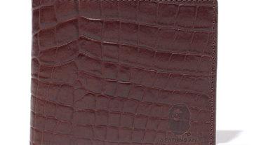 Bape Crocodile Pattern Leather Wallet 鱷魚壓紋真皮皮夾