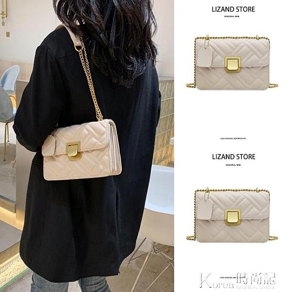 腋下包 夏天小ck今年流行的包包女2020新款潮白色夏季鏈條斜挎百搭腋下包 Korea時尚記