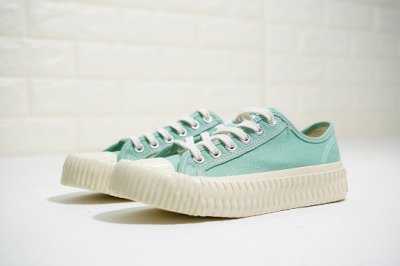 Excelsior Bolt 法國品牌 韓產硫化情侶款 復古小眾低幫帆布鞋 焦糖餅乾休閒運動板鞋 薄荷綠