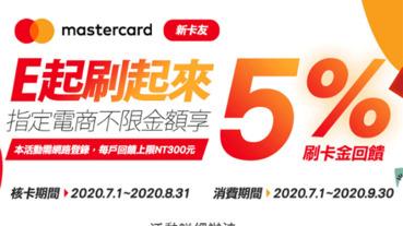 申辦樂天Mastercard卡 指定電商享5%回饋