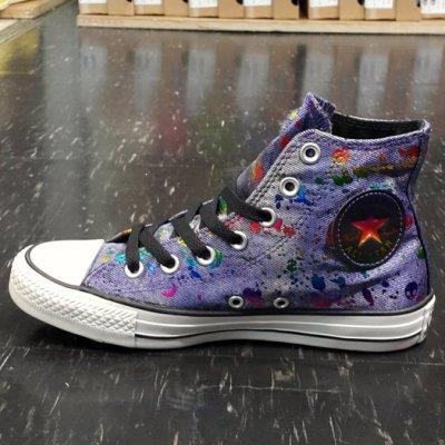 Converse Chuck Taylor All Star 高筒 帆布 水洗 刷白 彩色 彩虹 紫 藍 544050C