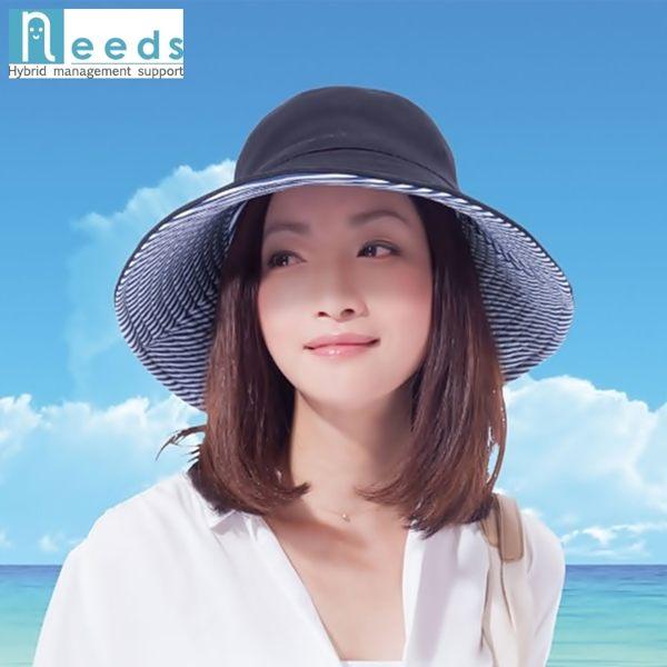 耀您館★日本NEEDS雙面百搭寬帽簷COOLMAX+SHADAN涼感帽#796遮陽帽戶外帽防曬帽防紫外線漁夫帽寬版帽