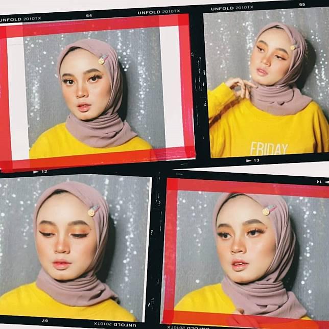 Model Hijab Pakai Jepit Rambut