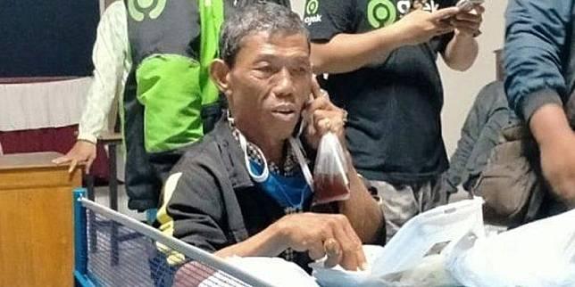 Penumpang yang Menipu Driver Ojol Mulyono Datang dari Jakarta, Alami Batuk, Kini Dirawat