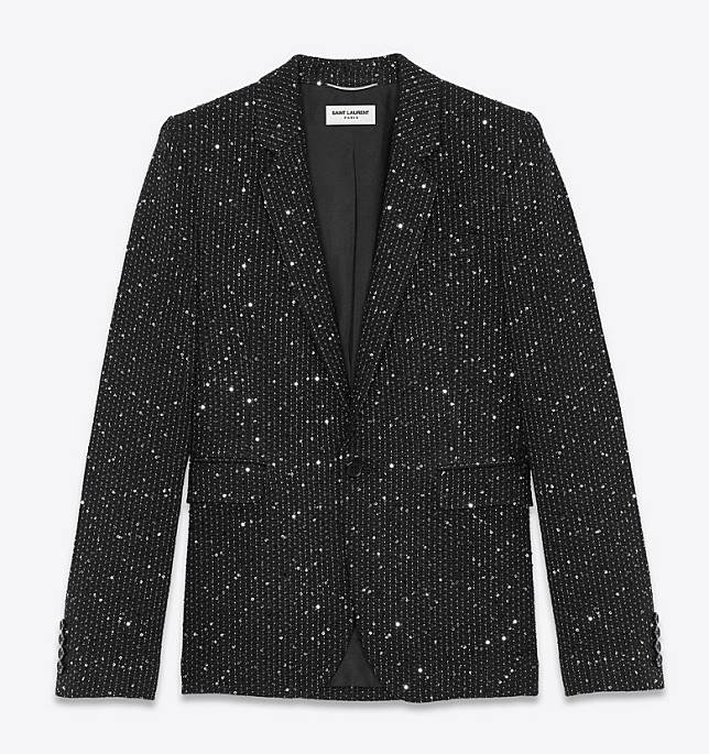 SAINT LAURENT Sequin Embroidered Tailored Jacket(互聯網)