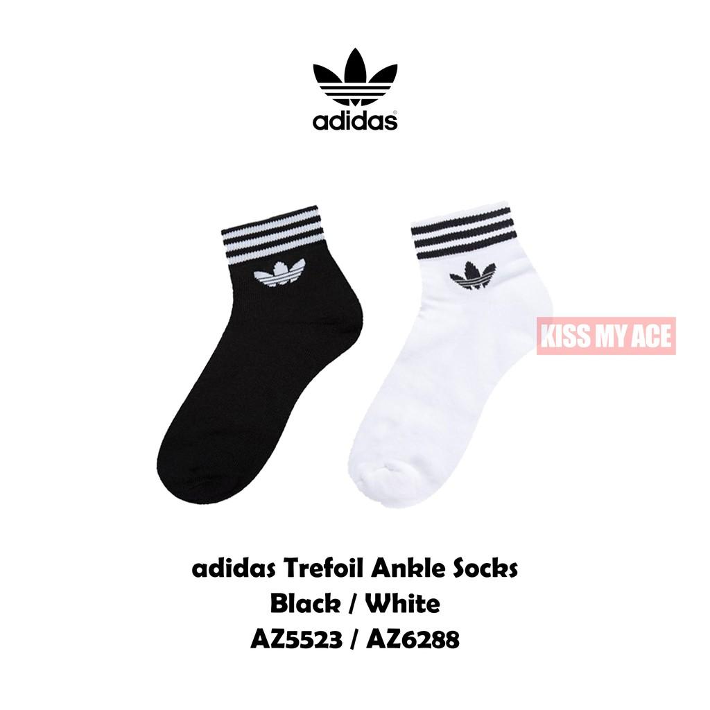 adidas Originals Quarter Sock 【中筒】 襪子 三葉草 運動襪 長襪 黑白 男 女 現貨