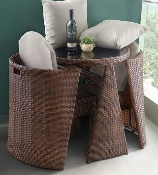 陽臺桌椅 藤椅三件套騰桌椅組合戶外庭院藤編靠背椅小茶幾zg