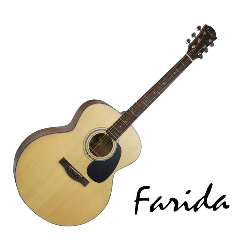 Farida民謠吉他 J-16 民謠吉他 西堤卡雲杉單板 Jumbo 文夏紀念琴 - 【他,在旅行】