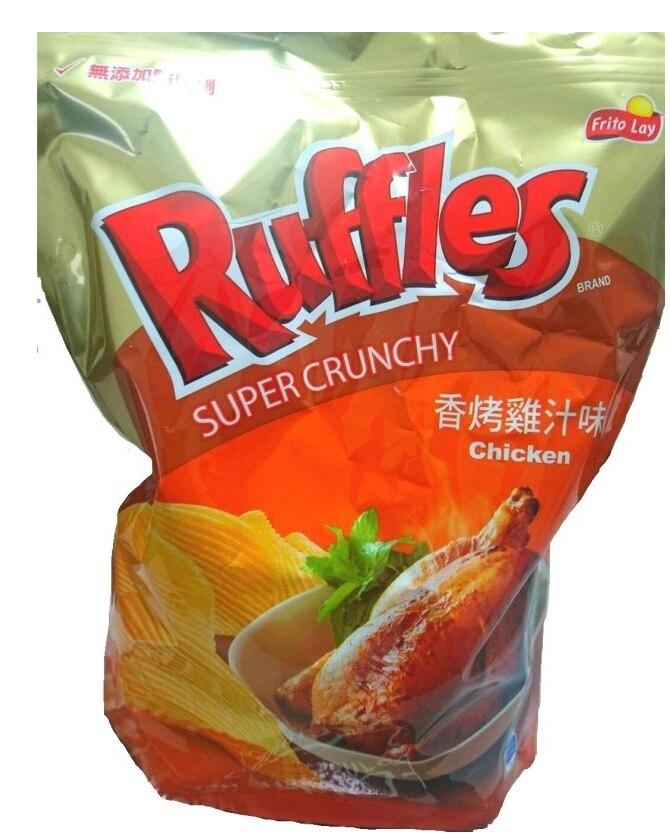 洋芋片 樂事 波樂 厚切洋芋片 Ruffles 香烤雞汁香辣炒蟹味波浪馬鈴薯零食餅乾拜拜普渡