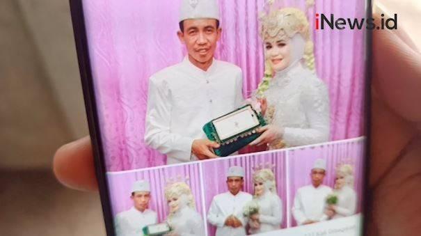 Pasangan pengantin asal Desa Gapuk, Suralaga, Lombok Timur, NTB mendadak viral di media sosial.