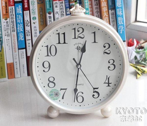 簡約臥室臺式鐘表現代臺鐘創意座鐘家用客廳靜音時鐘鬧鐘桌面擺鐘