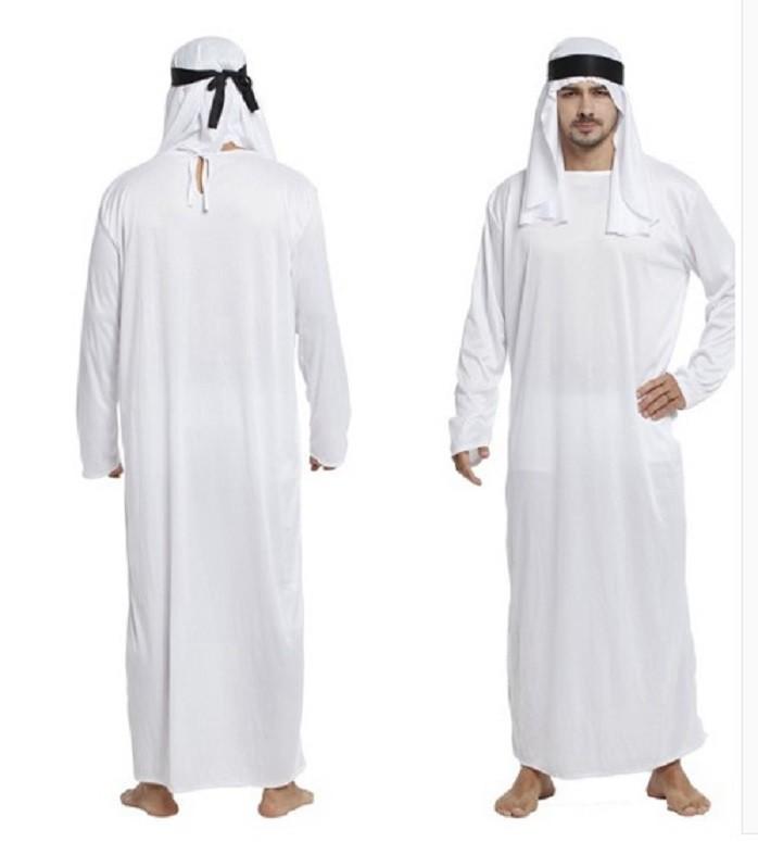 萬聖節成人中東迪拜沙特阿拉伯王子穆斯林酋長長袍男化妝舞會服裝