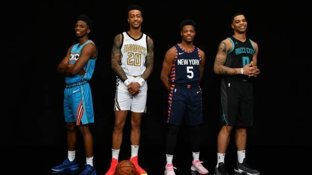 NBA灌籃大賽名單Dennis Smith, John Collins, Hamidou Diallo 以及 Miles Bridges。