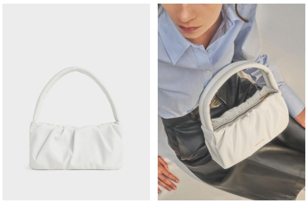 時髦防疫療癒色系包款推薦 4. 蓬鬆抓皺手提包