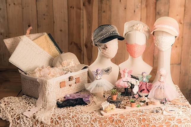 Fairymask Fiesta帶來了香檳粉紅、象牙白、薰衣草紫及蜜桃色系口罩配飾。(互聯網)