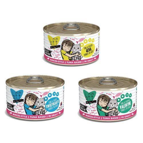 美國b.f.f.《百貓喜-天然貓罐醬汁-85g/156g罐》營養完整/可當作主食【12罐組/24罐組】『WANG』