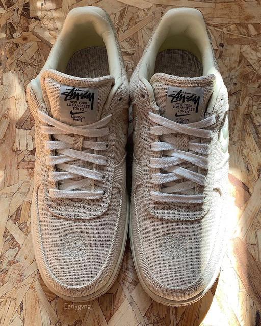Stussy x Nike又出招?全新Air Force 1 聯名款曝光,棉麻材質鞋身超復古!