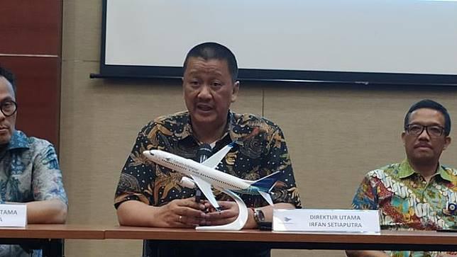 Direktur Utama Garuda Indonesia Irfan Setiaputra