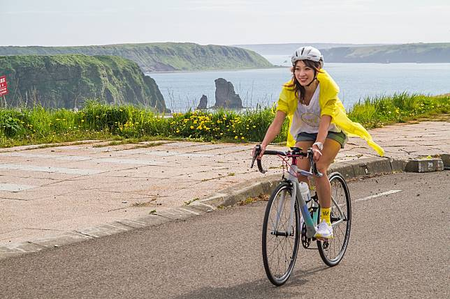 ▲段慧琳熱愛騎腳踏車。(圖/民視提供)
