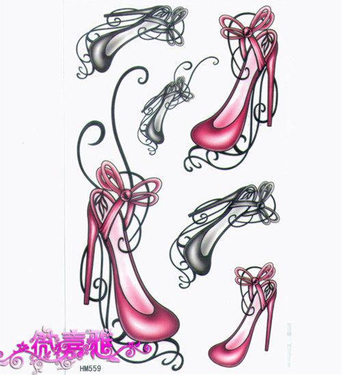 薇嘉雅 高跟鞋 超炫圖案紋身貼紙 HM559