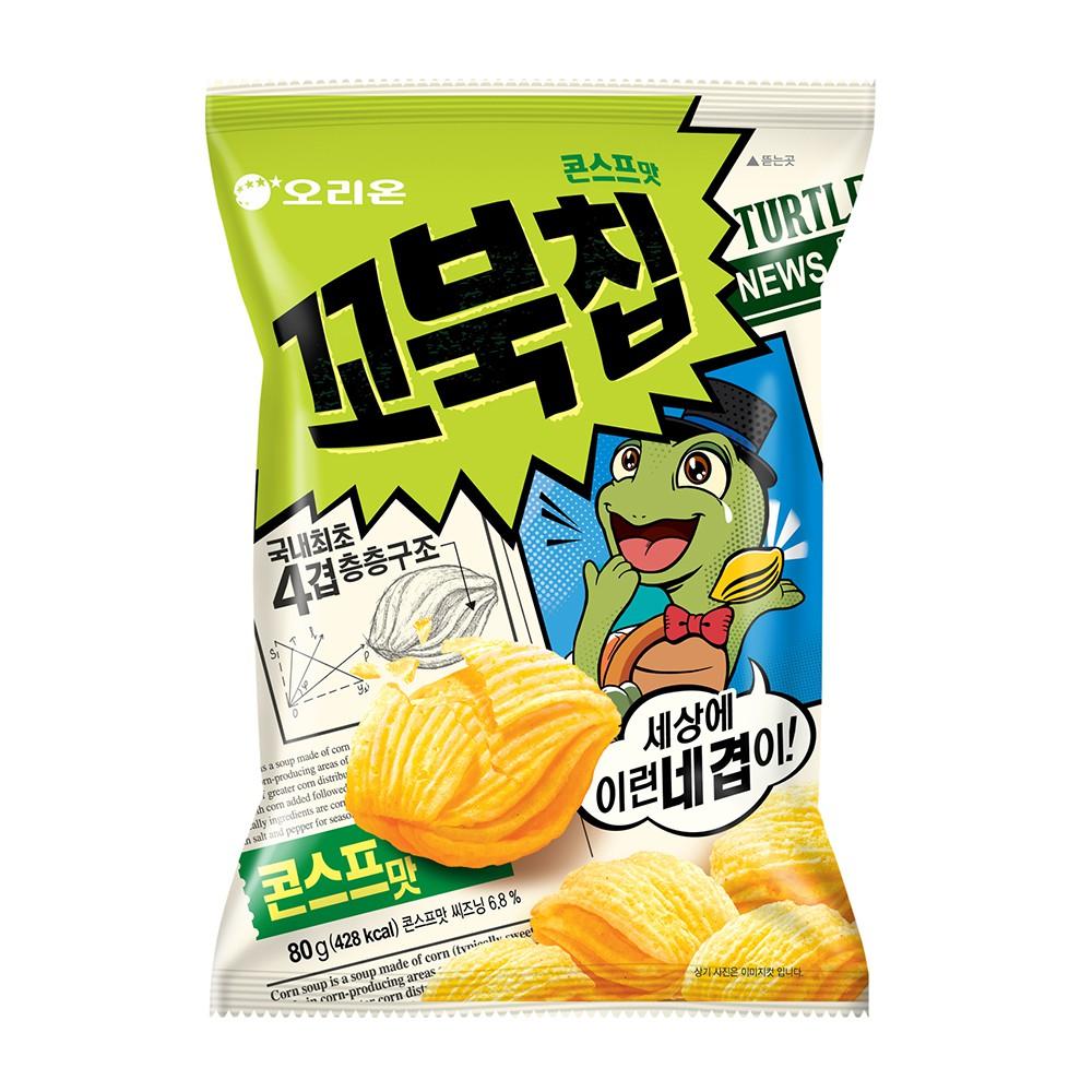 ORION 好麗友 烏龜玉米脆餅 玉米濃湯味 烤蝦味 肉桂味
