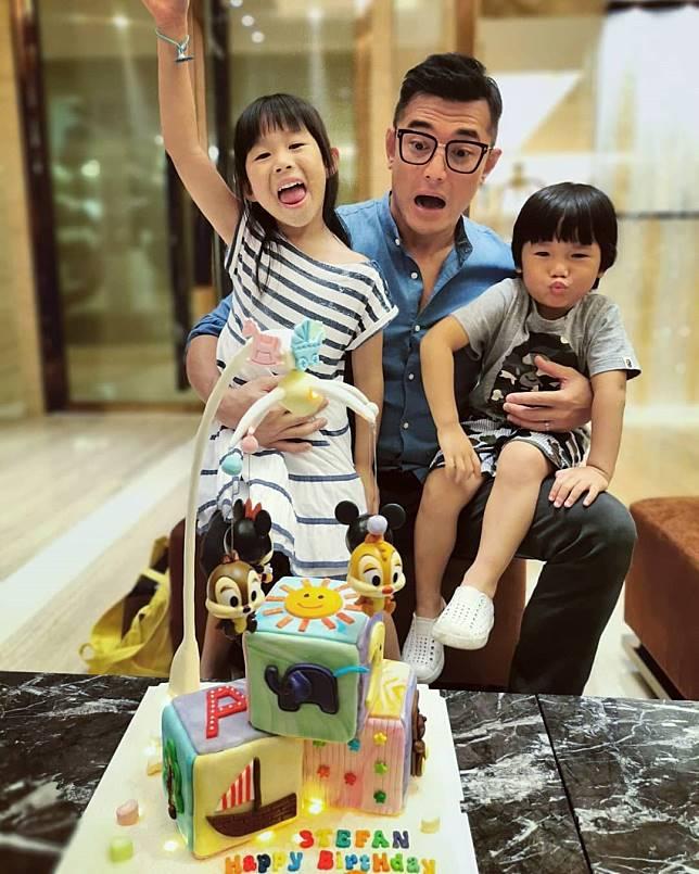 祥興生日抱住一對子女宣佈將再當爸。(ig圖片)