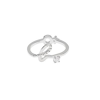 agnesb.logo純銀材質簡約優雅施華洛世奇水鑽