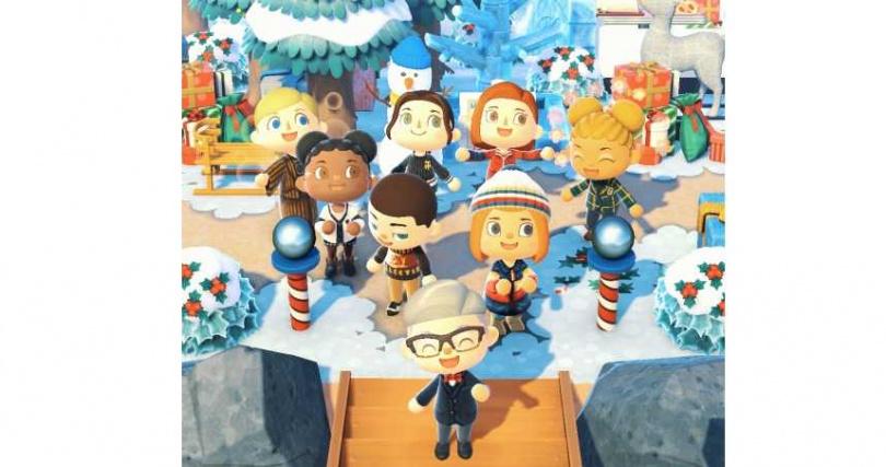 在白雪皚皚的「Tommy Forest」,參加一場別開生面的虛擬派對。(圖/品牌提供)