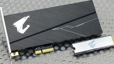 AIC、M.2 你選哪一道?GIGABYTE AORUS RGB NVMe SSD 512GB/1TB 雙形式、雙容量測試