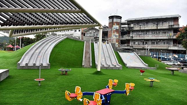 白雲公園磨石子滑梯。圖/新北市政府官網