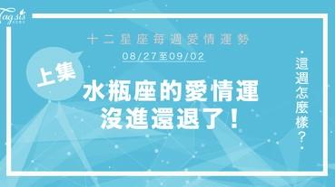 【08/24-09/02】十二星座每週愛情運勢 (上集) ~ 水瓶座的愛情運沒進還退了!