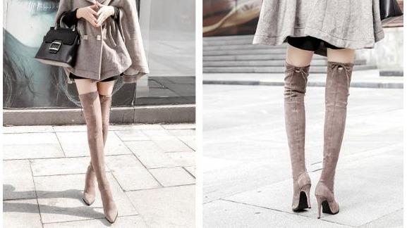 超顯瘦!秋冬必備過膝長靴的兩大穿搭法