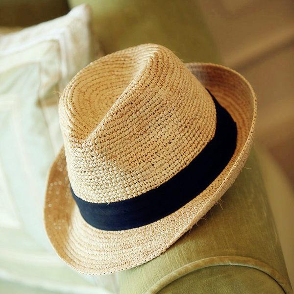 【預購】時尚夏日遮陽草帽 可折疊沙灘遮陽帽8