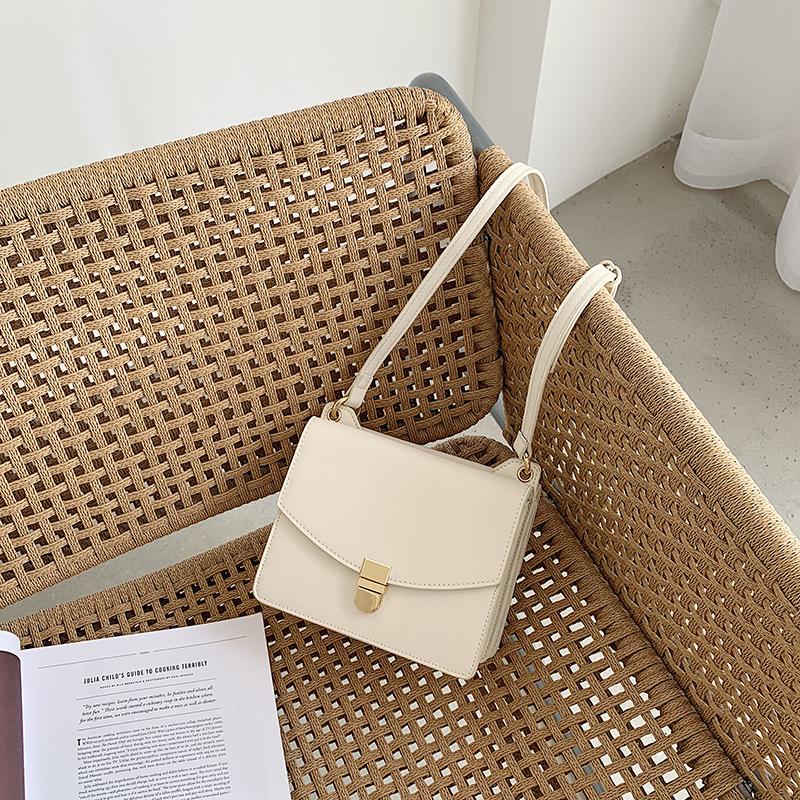韓國極簡小眾設計鎖釦單肩小方包風琴女包時尚鏈條手提包潮斜挎包