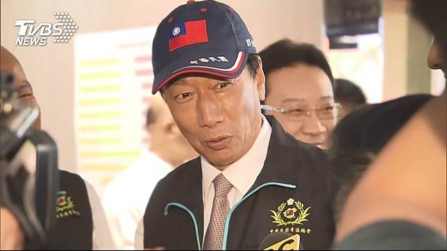 鴻海集團創辦人郭台銘16日宣布退出2020總統大選。圖/TVBS
