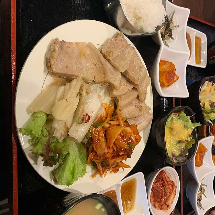 新宿区周辺で多くのユーザーに人気が高いサムギョプサル本格韓国料理店 招待 新宿東口店の今日のランチの写真