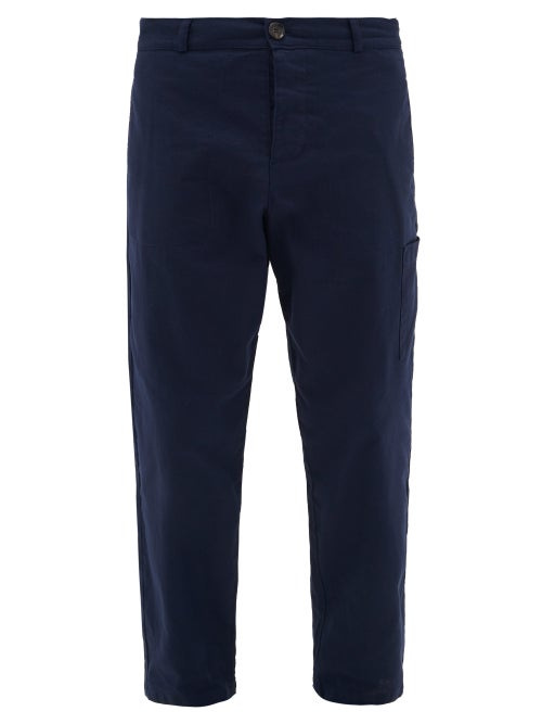 Oliver Spencer - Oliver Spencer's navy Judo trousers evoke a classic utility mood with their cropped