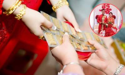 Vàng được tặng hoặc cho trong ngày cưới, khi ly dị là của chung hay của riêng?