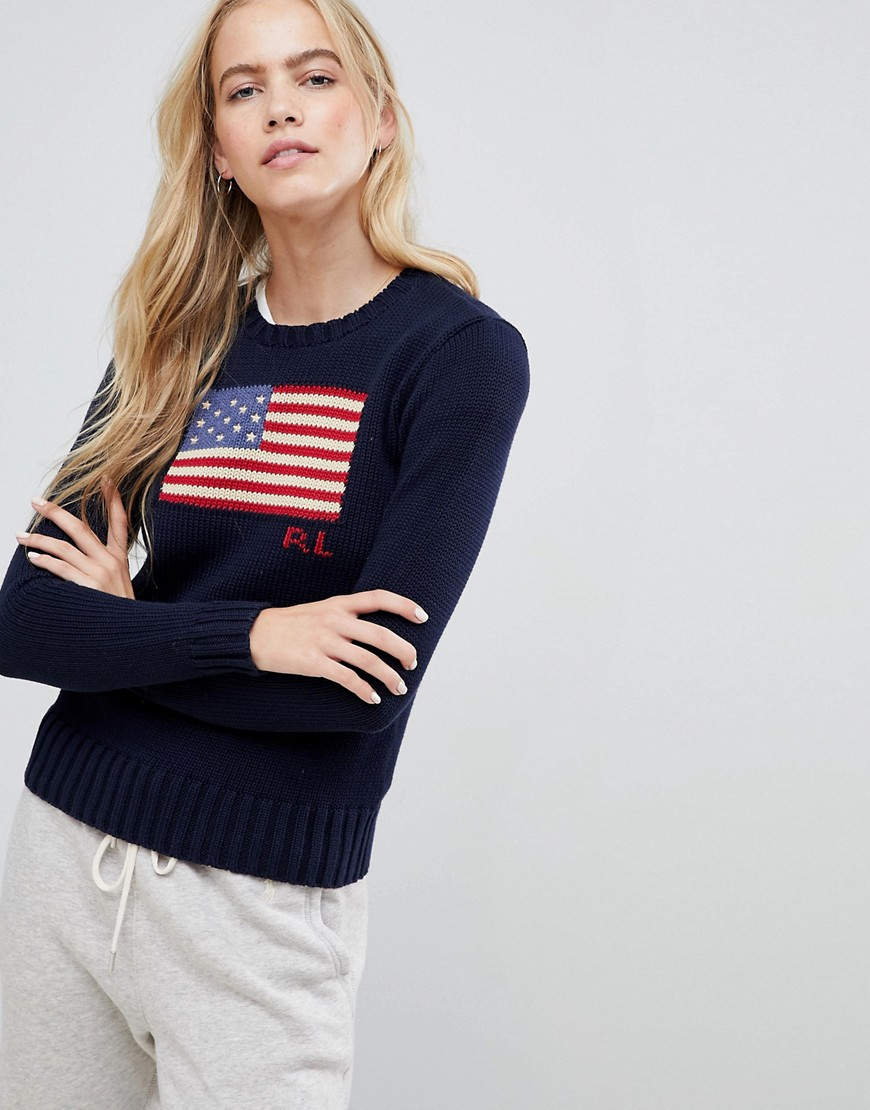 Jumper by Polo Ralph Lauren Crew neck It's classic you Flag logo Ribbed cuffs and hem Regular fit No