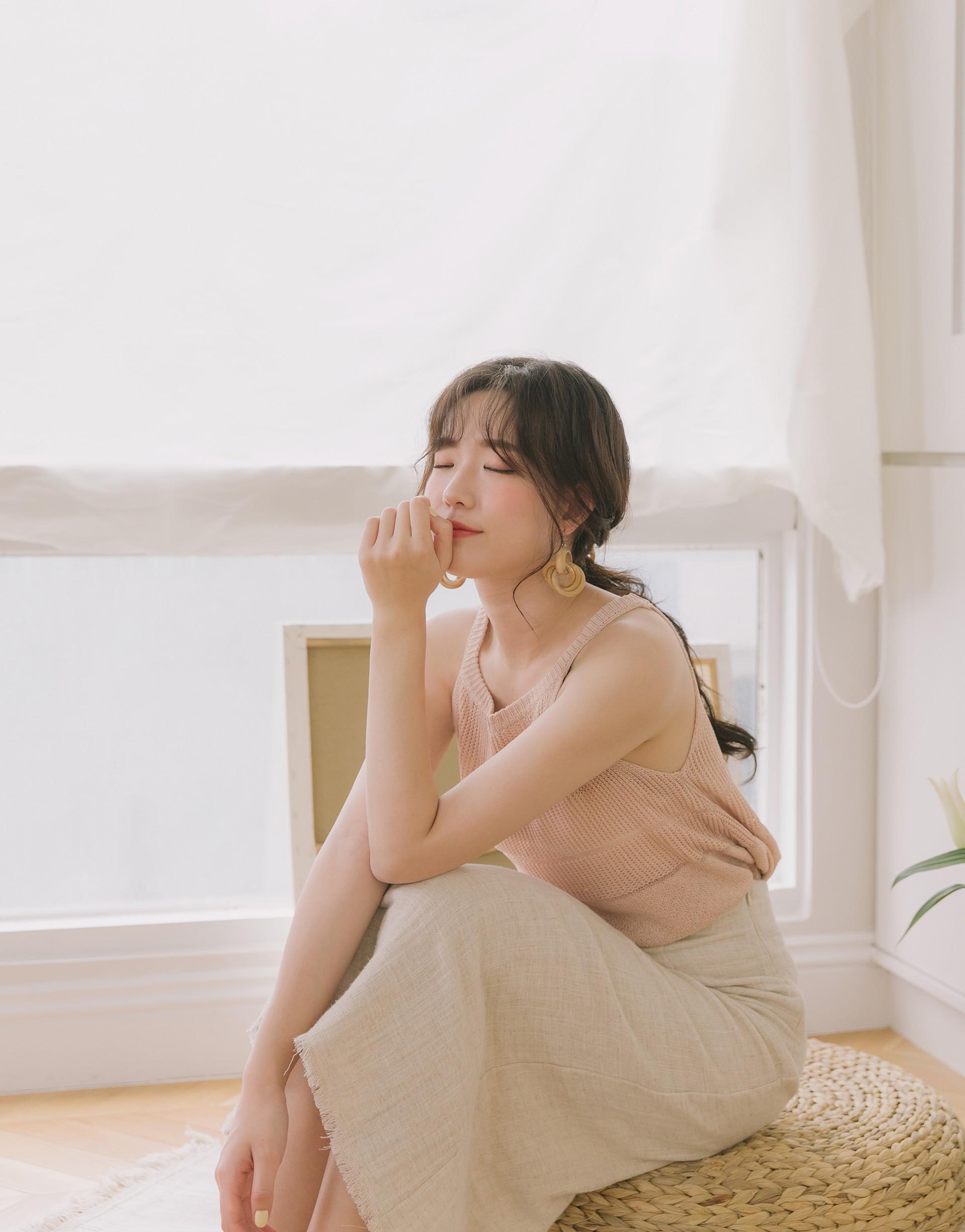 PAZZO+夏日透氣感削肩針織背心