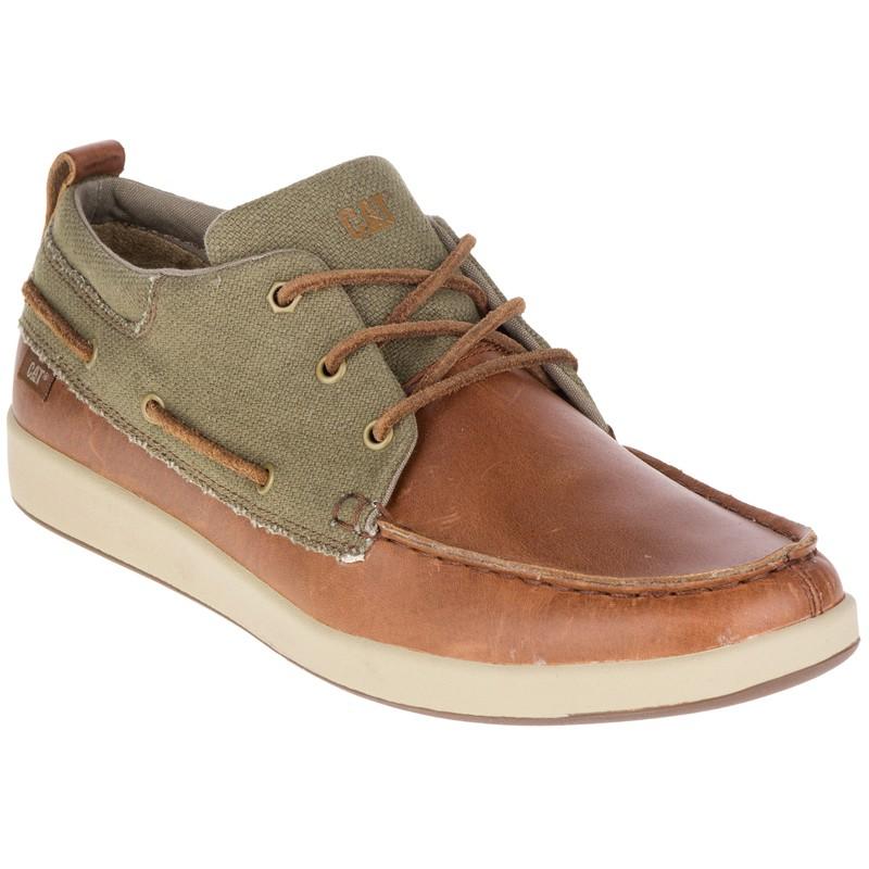 【CAT】城市與時尚潮流系列Mens ALEC CANVAS (720936) - 棕色 - 原價3250元 .鞋面材質:珠面皮+帆布 .大底:橡膠 #創意者鞋坊 #CAT