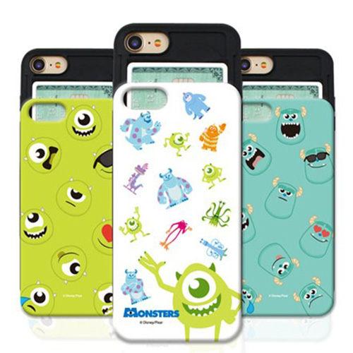 Disney 迪士尼 Monsters 防摔滑蓋卡夾 手機殼│iPhone 6S 7 8 Plus X XS MAX XR LG G6 G7│z8112