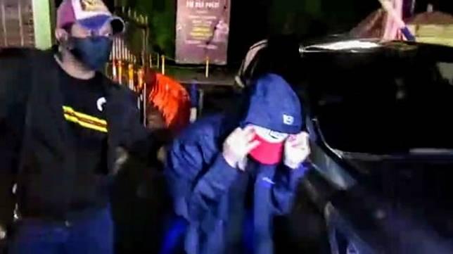 Artis FTV berinsial HH ditangkap polisi di Medan, Senin (13/7/2020) dini hari WIB. (Foto: Istimewa)