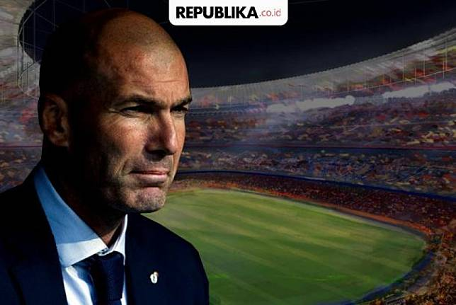 Zinedine Zidane di Santiago Bernabeu