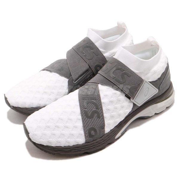 Asics 慢跑鞋 Gel-Kayano 25 OBI 白 灰 日式和服元素 編織鞋面 繃帶設計 運動鞋 男鞋【PUMP306】 1021A02-6100