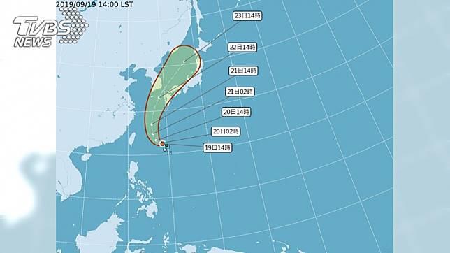 今年第17號颱風塔巴下午形成。圖/中央氣象局