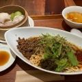 黒ゴマ担々麺汁無セット - 実際訪問したユーザーが直接撮影して投稿した西新宿カフェ騒豆花 新宿ミロード店の写真のメニュー情報