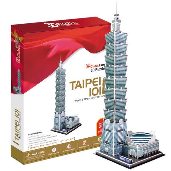 3D Puzzle 立體拼圖 世界建築豪華版-台北101 台灣)